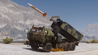 GTA 5 - Người dân khi náo loạn sẽ ra sao và xe tên lửa chuyên dụng của quân đội | ND Gaming