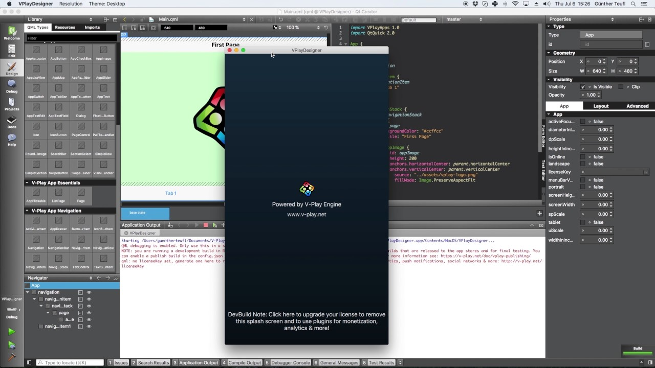 How to Make a Qt Mobile App with Qt Quick Designer (QML Designer) & Felgo  for iOS & Android