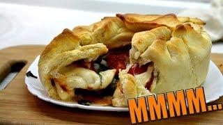 Пирог с колбасой и сыром моцарелла