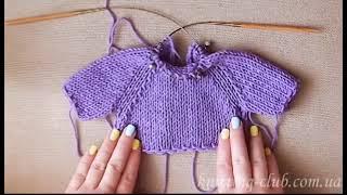 РЕГЛАН на круговых спицах /How to knit raglan from the bottom