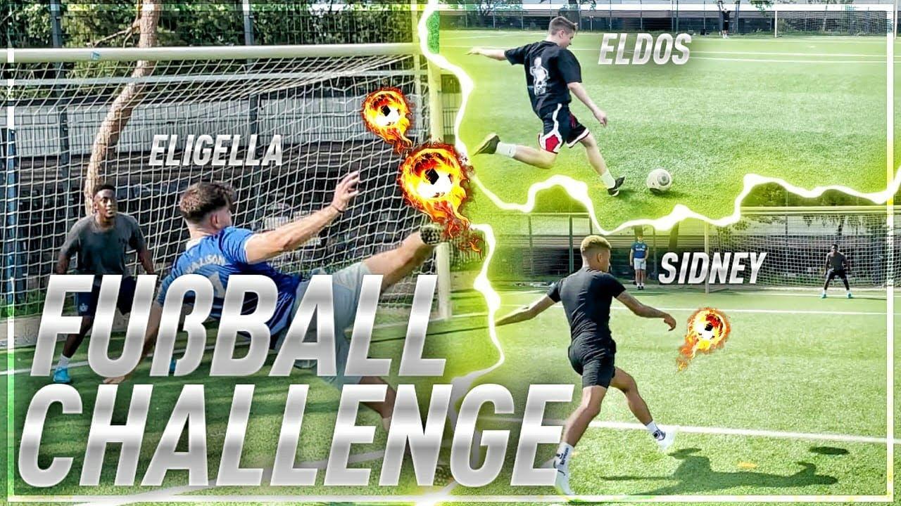 FUSSBALL CHALLENGE mit SID und ELDOS ❤️🔥