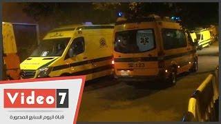 بالفيديو.. سيارات الإسعاف تنقل 162 جثة لضحايا الطائرة الروسية إلى مطار القاهرة