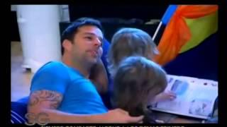 Ricky Martin junto a sus hijos - Susana Gimenez