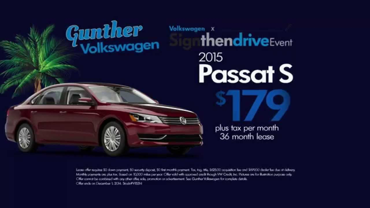 Sign then drive a new Passat from Gunther Volkswagen of Fort lauderdale - YouTube