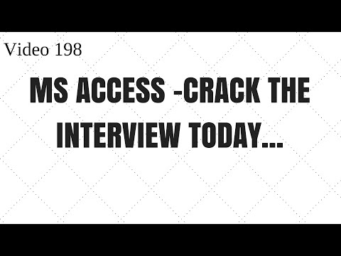 Learn MS Access - Video 198 - Remove duplicates and preparing for interview