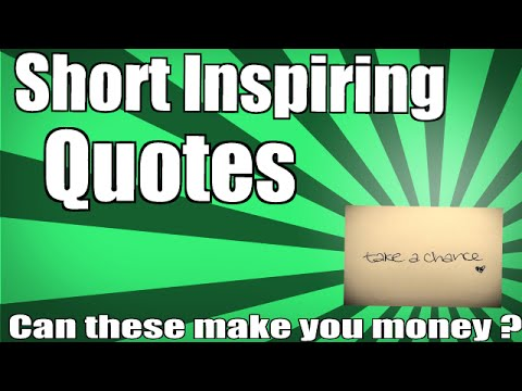 short quotes about making money