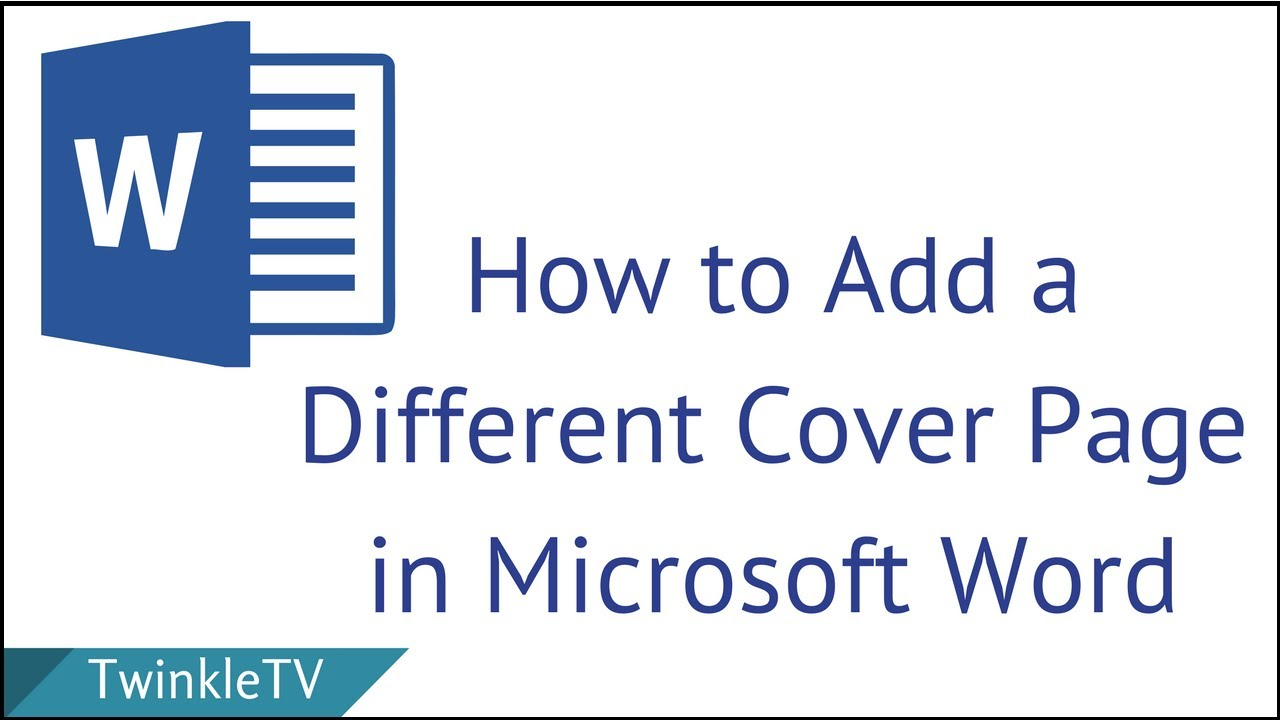 How To Add Separate Cover Page In Word
