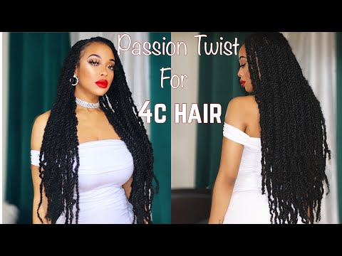 How to:Passion Twist for 4c Hair- ft X-pression Twisted Up Springy Afro Twist