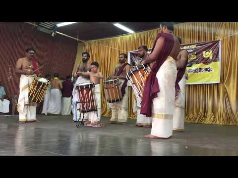 Thayambaka Arangettam Madhav Jithin (9 years old) at Melpathur Auditorium, Guruvayur Temple