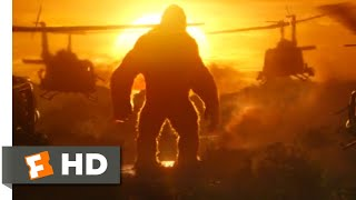 Kong: Skull Island (2017) - Kong vs. Helicopters Scene (1/10) | Movieclips