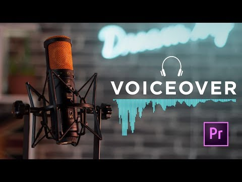 HOW TO record the PERFECT VOICE OVER in Adobe Premiere Pro CC - With NO EXPERIENCE 🙌