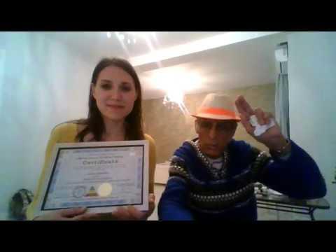 Благодарность Юлии из Алматы после сеанса гипноза и прохождения 10-дневного тренинга.