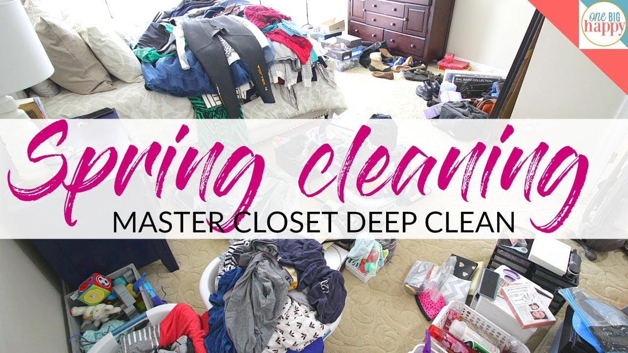 Spring Cleaning 2018 Master Closet Clean Out Organize And Declutter With Me
