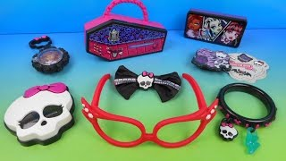 2014 MONSTER HIGH SET OF 8 McDONALDS HAPPY MEAL KIDS TOYS VIDEO REVIEW