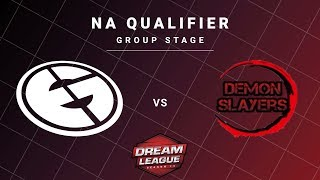 Evil Geniuses vs Demon Slayers Game 1 - DreamLeague S13 NA Qualifiers: Group Stage