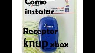 Como Instalar receptor Wireless de controle xbox 360 (KNUP) como fazer o windows reconhecer