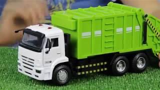 Обзор игрушек, машинки : Мусоровоз и Каток.