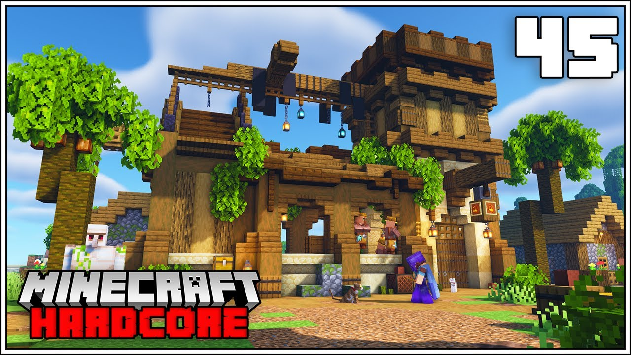 Minecraft Hardcore Let's Play - VILLAGE CHURCH TRANSFORMATION!!!  - Episode 45