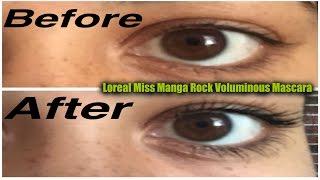 Loreal Miss Manga Voluminious Mascara First Impression!