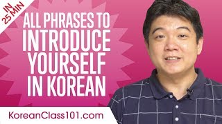 ALL Phrases to Introduce Yourself like a Native Korean Speaker