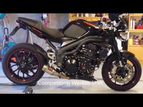 2010 Triumph Speed Triple - The ultimate exhaust comparison - YouTube