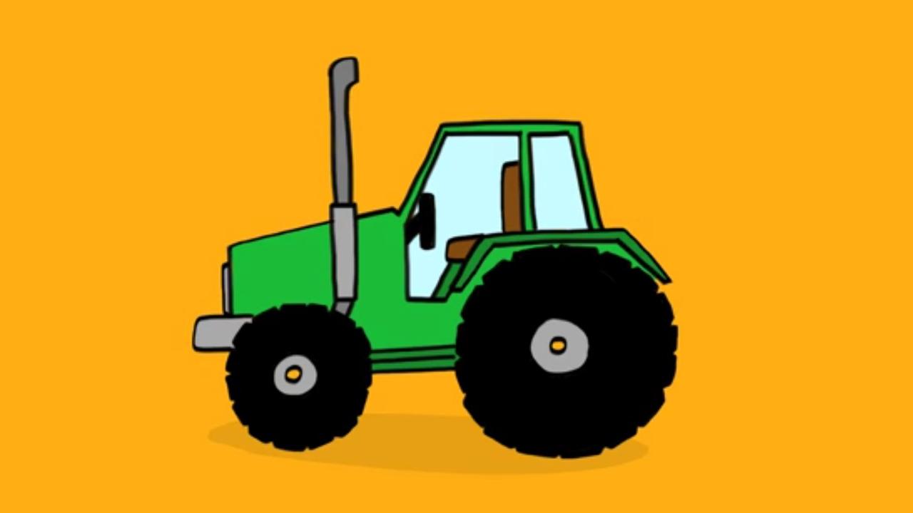 apprendre a dessiner un tracteur