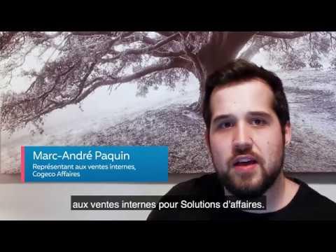 Restez connectés - Marc-André Paquin, représentant chez Cogeco Affaires