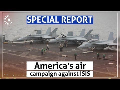 On board the US aircraft carrier that halted ISIS at Kurdistan's gates
