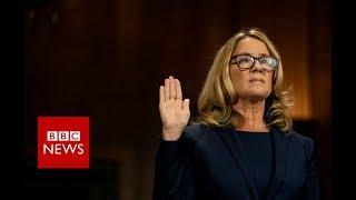 Kavanaugh accuser testifies before Senate panel - BBC News
