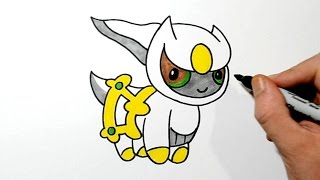 How to Draw Chibi Arceus - Step by Step - Toy Toons