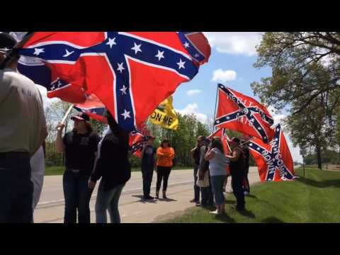Confederate flags fly over US 127