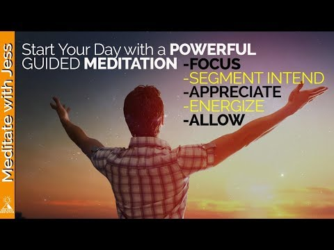 Abraham Inspired Morning Meditation - Positive Powerful Guided Meditation  (Law of Attraction)