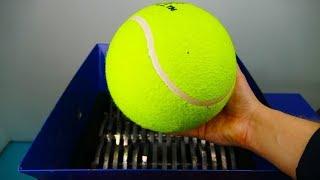SHREDDING WORLD'S BIGGEST TENNIS BALL