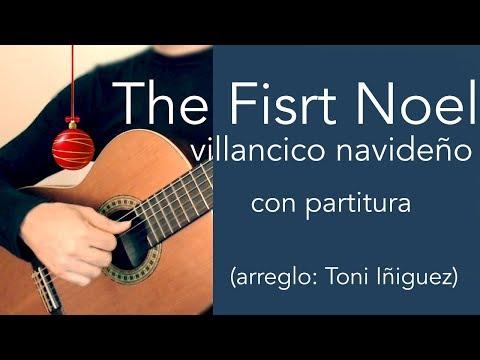 Villancico Navideño The First Noel Para Guitarra Clásica
