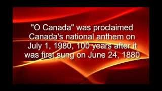 o canada national anthem with lyrics in english and french