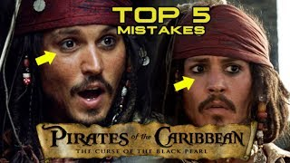 PIRATES OF THE CARIBBEAN: THE CURSE OF THE BLACK PEARL -  Top 5 Movie Mistakes