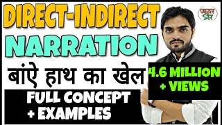 Direct and Indirect Speech in English Grammar | Narration in English Grammar | Changes/Rules/Concept