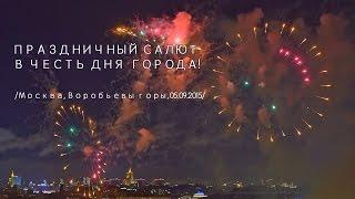 Салют, День города Москвы(Праздничный салют на Воробьевых горах в честь Дня города Москвы., 2015-09-06T08:08:31.000Z)