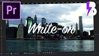 Video TEXTO ESCRITO À MÃO NO ADOBE PREMIERE - Write-On Tutorial download MP3, 3GP, MP4, WEBM, AVI, FLV Agustus 2018