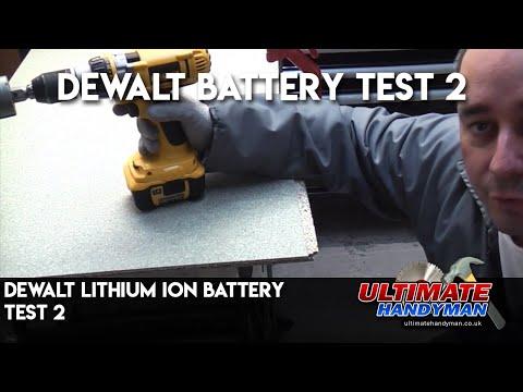 Dewalt Lithium Ion battery test 2