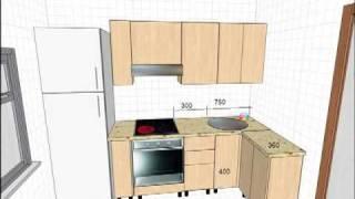 видео Маленькая кухня может быть уютной
