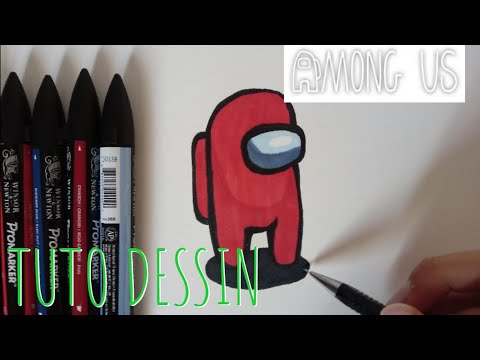 Comment Dessiner Un Perso Among Us Tuto Youtube