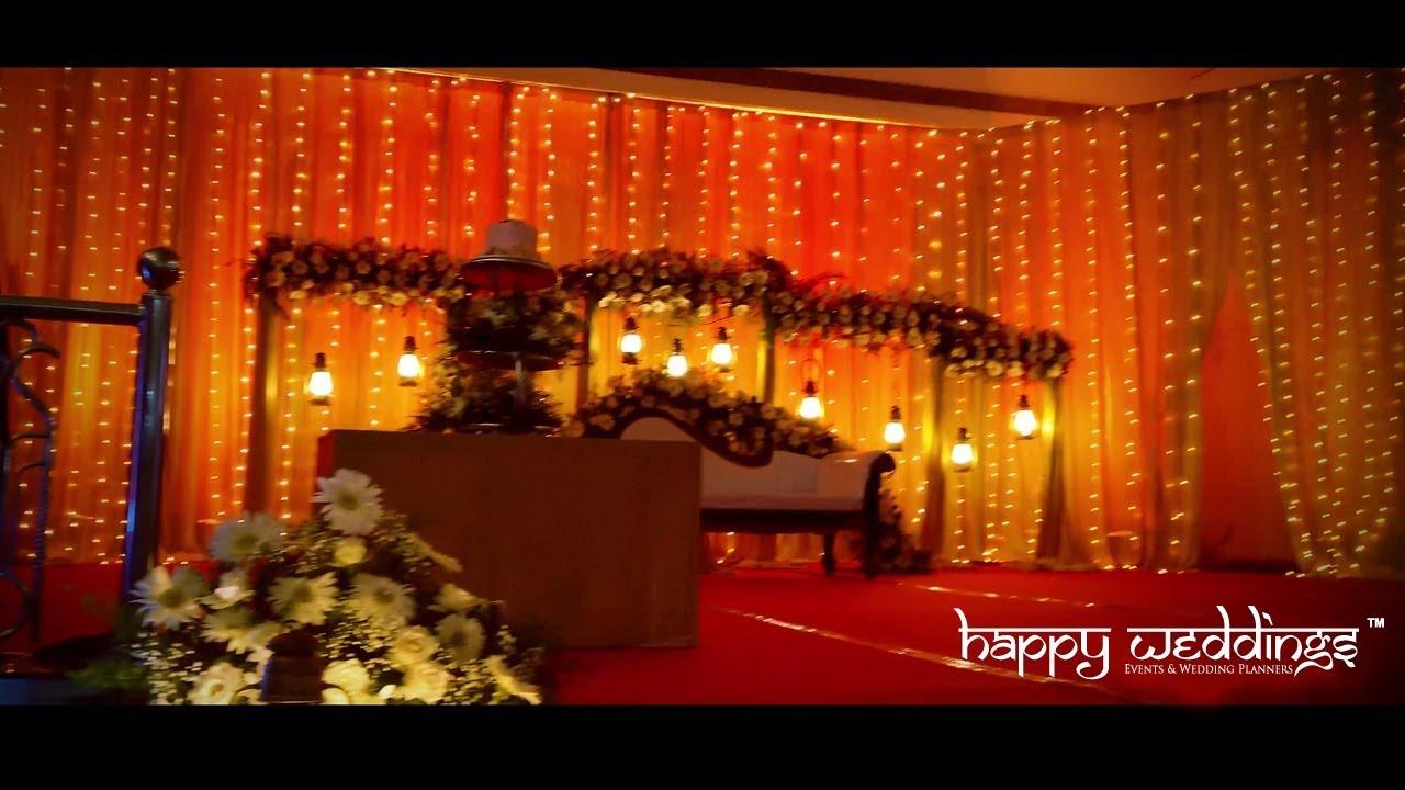 Christian Wedding Stage Decoration In Trivandrum Reception Stage