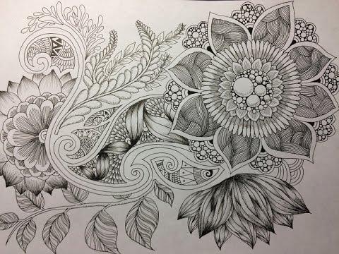 How To Draw Botanical Doodle Zentangle 11 YouTube