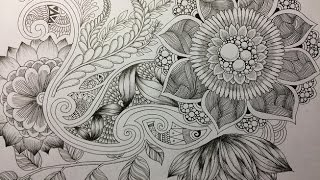 How to draw Botanical doodle / Zentangle #11