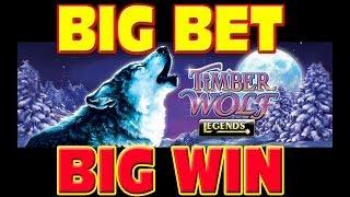 Timber Wolf Legends BIG BET + MEGA WIN Las Vegas Slot Machine Winner