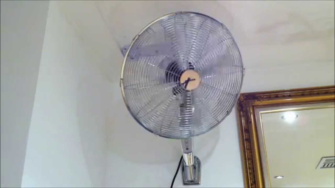 Wall Mounted Fans With Remote Control : Heller cm wall fan with remote control youtube