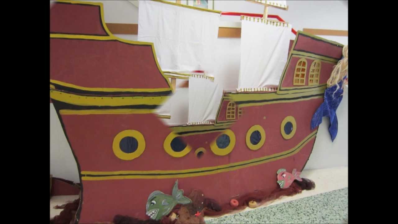 O barco pirata de Infantil Proxecto O MAR curso 20122013  YouTube