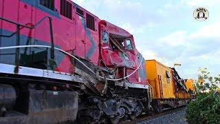 UNA DESGRACIA: Así lucen estás Locomotoras despúes de descarrilarse