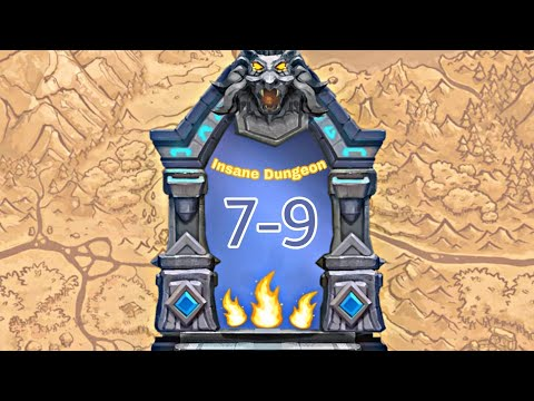 3 FLAMES Insane Dungeon 7-9 F2p Heroes - Castle Clash